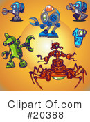 Royalty-Free (RF) Robots Clipart Illustration #20388