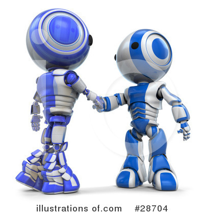 Royalty-Free (RF) Robots Clipart Illustration by Leo Blanchette - Stock Sample #28704