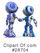 Royalty-Free (RF) Robots Clipart Illustration #28704