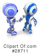 Royalty-Free (RF) Robots Clipart Illustration #28711