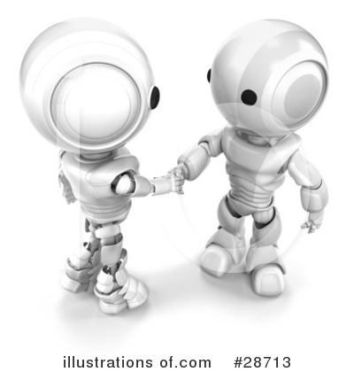 Royalty-Free (RF) Robots Clipart Illustration by Leo Blanchette - Stock Sample #28713
