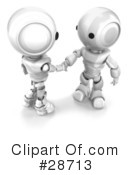 Royalty-Free (RF) Robots Clipart Illustration #28713