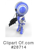 Royalty-Free (RF) robots Clipart Illustration #28714