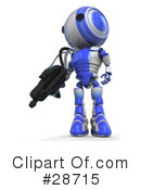 Royalty-Free (RF) robots Clipart Illustration #28715