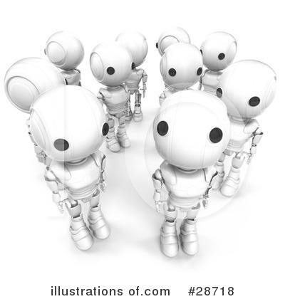 Royalty-Free (RF) Robots Clipart Illustration by Leo Blanchette - Stock Sample #28718
