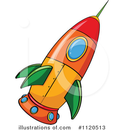 Rocket Clipart #1120513 - Illustration by colematt