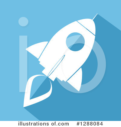 Royalty-Free (RF) Rocket Clipart Illustration by Hit Toon - Stock Sample #1288084