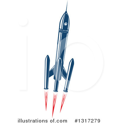Rocket Clipart #1317279 by Vector Tradition SM