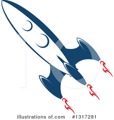 Rocket Clipart #1317281 by Vector Tradition SM