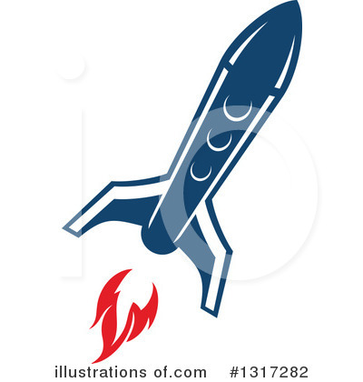 Rocket Clipart #1317282 by Vector Tradition SM