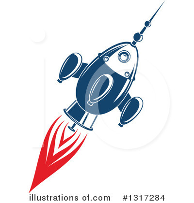 Rocket Clipart #1317284 by Vector Tradition SM