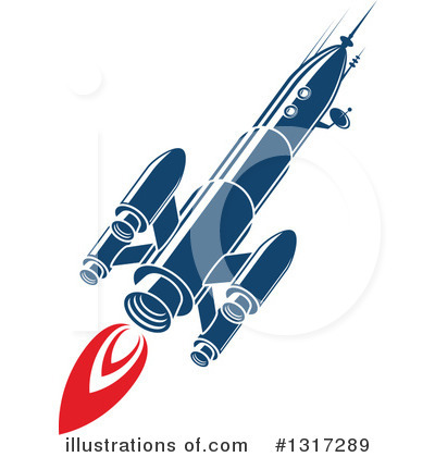 Rocket Clipart #1317289 by Vector Tradition SM