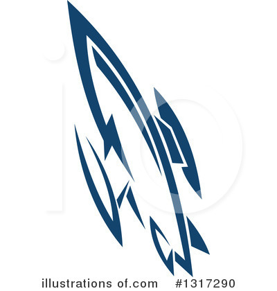 Rocket Clipart #1317290 by Vector Tradition SM