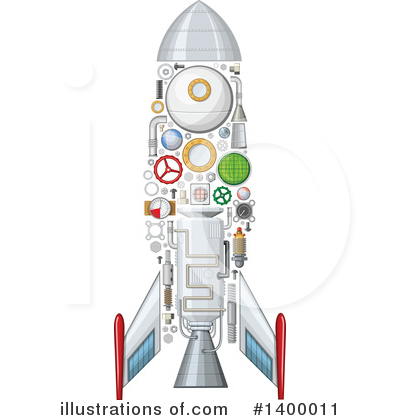 Rocket Clipart #1400011 by Vector Tradition SM