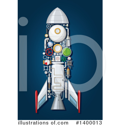 Rocket Clipart #1400013 by Vector Tradition SM