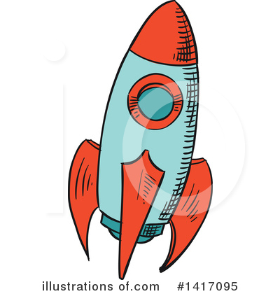 Rocket Clipart #1417095 by Vector Tradition SM