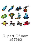 Royalty-Free (RF) rocket Clipart Illustration #57962
