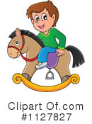Royalty-Free (RF) Rocking Horse Clipart Illustration #1127827