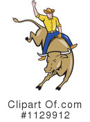 Royalty-Free (RF) Rodeo Clipart Illustration #1129912