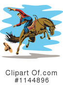 Royalty-Free (RF) Rodeo Clipart Illustration #1144896