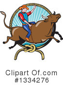Royalty-Free (RF) Rodeo Clipart Illustration #1334276