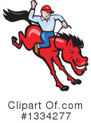 Royalty-Free (RF) Rodeo Clipart Illustration #1334277