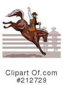 Royalty-Free (RF) Rodeo Clipart Illustration #212729
