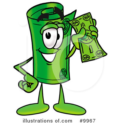 Rolled Money Clipart #9967 by Toons4Biz