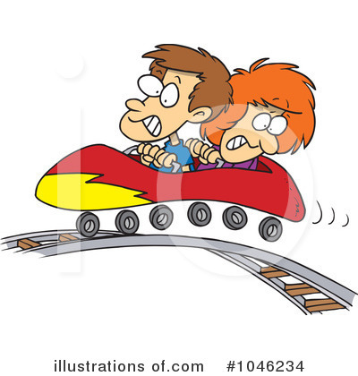 Royalty-Free (RF) Roller Coaster Clipart Illustration by toonaday - Stock Sample #1046234
