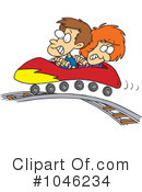 Royalty-Free (RF) Roller Coaster Clipart Illustration #1046234