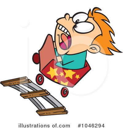 Roller Coaster Clipart #1046294 by toonaday
