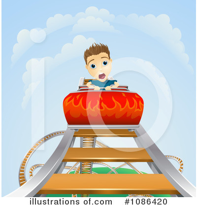 Roller Coaster Clipart #1086420 by AtStockIllustration