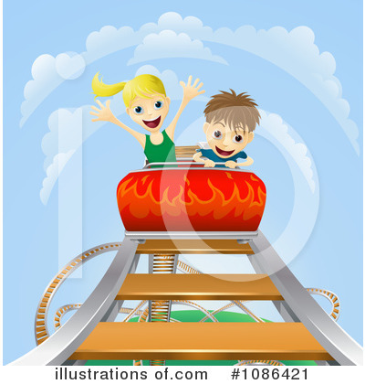 Roller Coaster Clipart #1086421 by AtStockIllustration