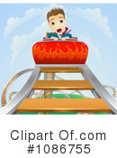 Royalty-Free (RF) roller coaster Clipart Illustration #1086755