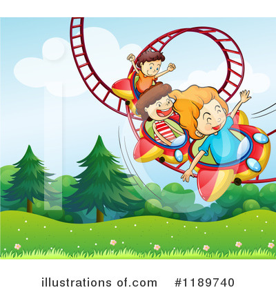 Roller Coaster Clipart #1189740 by Graphics RF