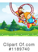 Royalty-Free (RF) Roller Coaster Clipart Illustration #1189740