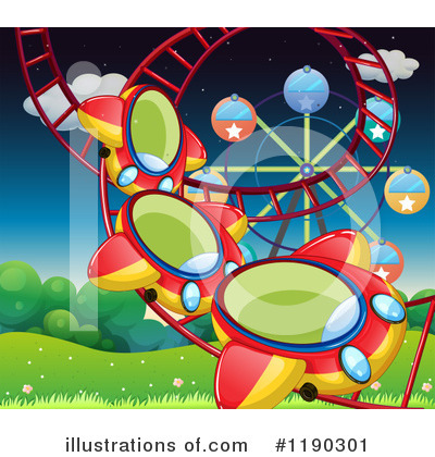 Roller Coaster Clipart #1190301 by Graphics RF