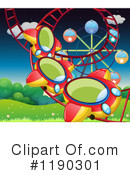 Royalty-Free (RF) Roller Coaster Clipart Illustration #1190301