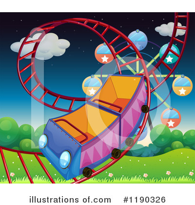 Roller Coaster Clipart #1190326 by Graphics RF