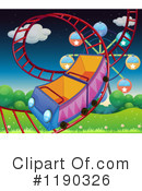 Royalty-Free (RF) Roller Coaster Clipart Illustration #1190326