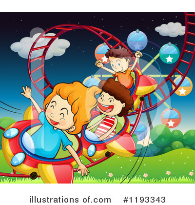 Royalty-Free (RF) Roller Coaster Clipart Illustration by Graphics RF - Stock Sample #1193343