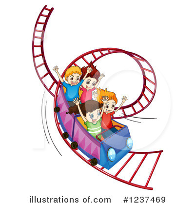 Roller Coaster Clipart #1237469 by Graphics RF