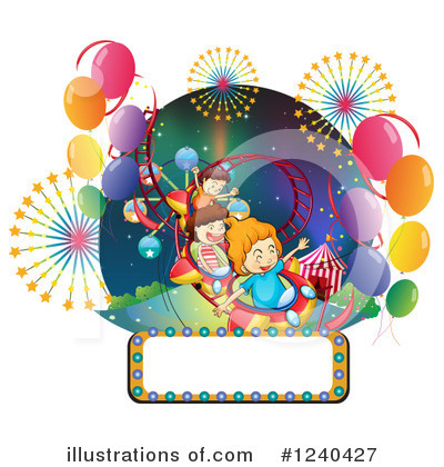 Roller Coaster Clipart #1240427 by Graphics RF
