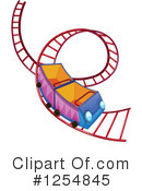 Roller Coaster Clipart #1254845 by Graphics RF