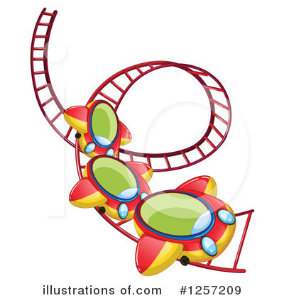Roller Coaster Clipart #1257209 by Graphics RF