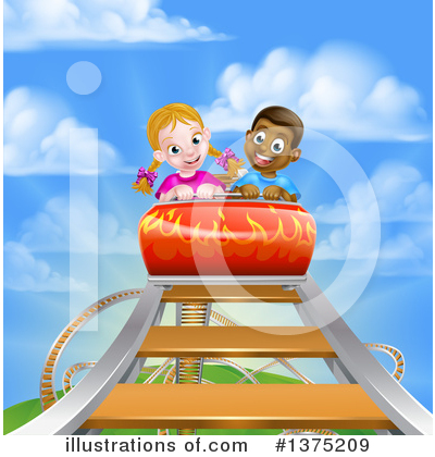 Roller Coaster Clipart #1375209 by AtStockIllustration
