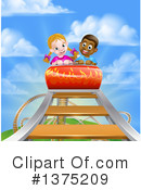 Royalty-Free (RF) Roller Coaster Clipart Illustration #1375209