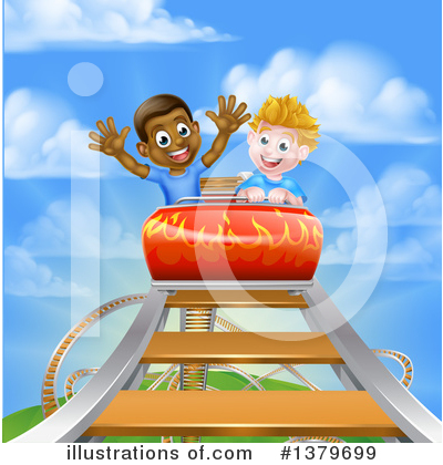 Royalty-Free (RF) Roller Coaster Clipart Illustration by AtStockIllustration - Stock Sample #1379699