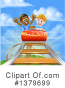 Royalty-Free (RF) Roller Coaster Clipart Illustration #1379699