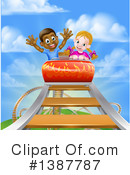 Royalty-Free (RF) Roller Coaster Clipart Illustration #1387787